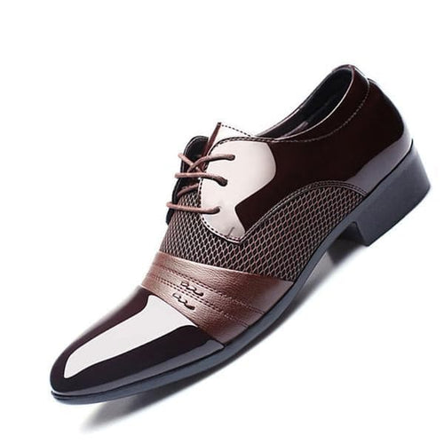 ZXQ Men's Genuine Leather Formal Business Dress Shoes