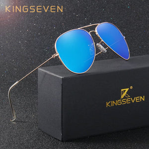 KINGSEVEN Men's Classic Pilot Fashion Polarized Sunglasses