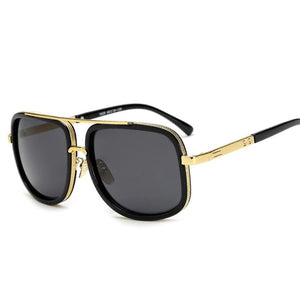 DPZ Men's and Women's Retro Style Square Luxury Sunglasses