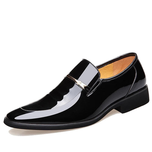 QFFAZ Men's Genuine Leather Wedding Party and Business Dress Shoes