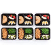Image of SET of 10 Black Reusable-Easy To Clean Lunch Boxes