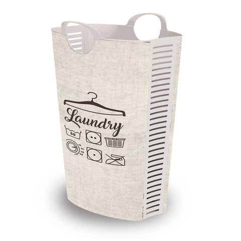 "Plastic laundry basket / Hamper ""Retro"" vintage laundry basket uk"