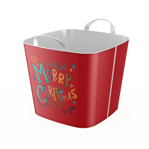 Stylish TUB  -25L- Storage Basket / Merry Christmas