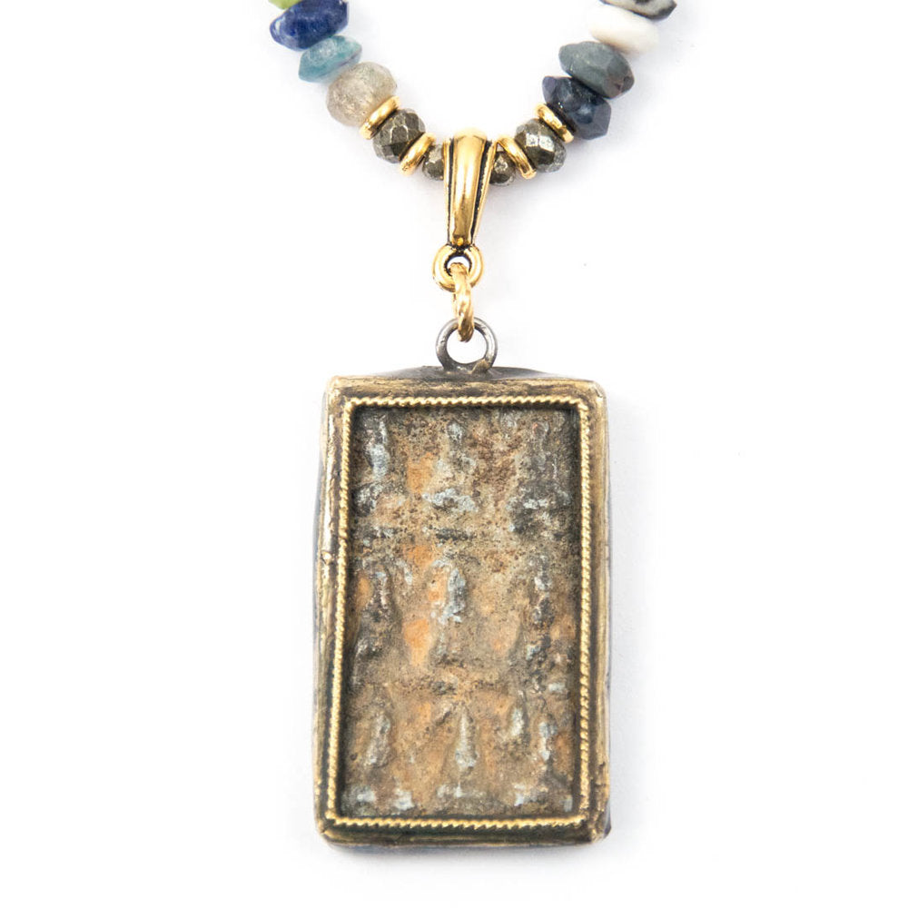 BUDDHA PENDANT, SEMIPRECIOUS GEMSTONE NECKLACE
