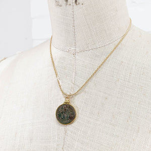 14k Gold Filled Genuine Roman Coin Necklace (LICINIUS; 308-324 A.D.)