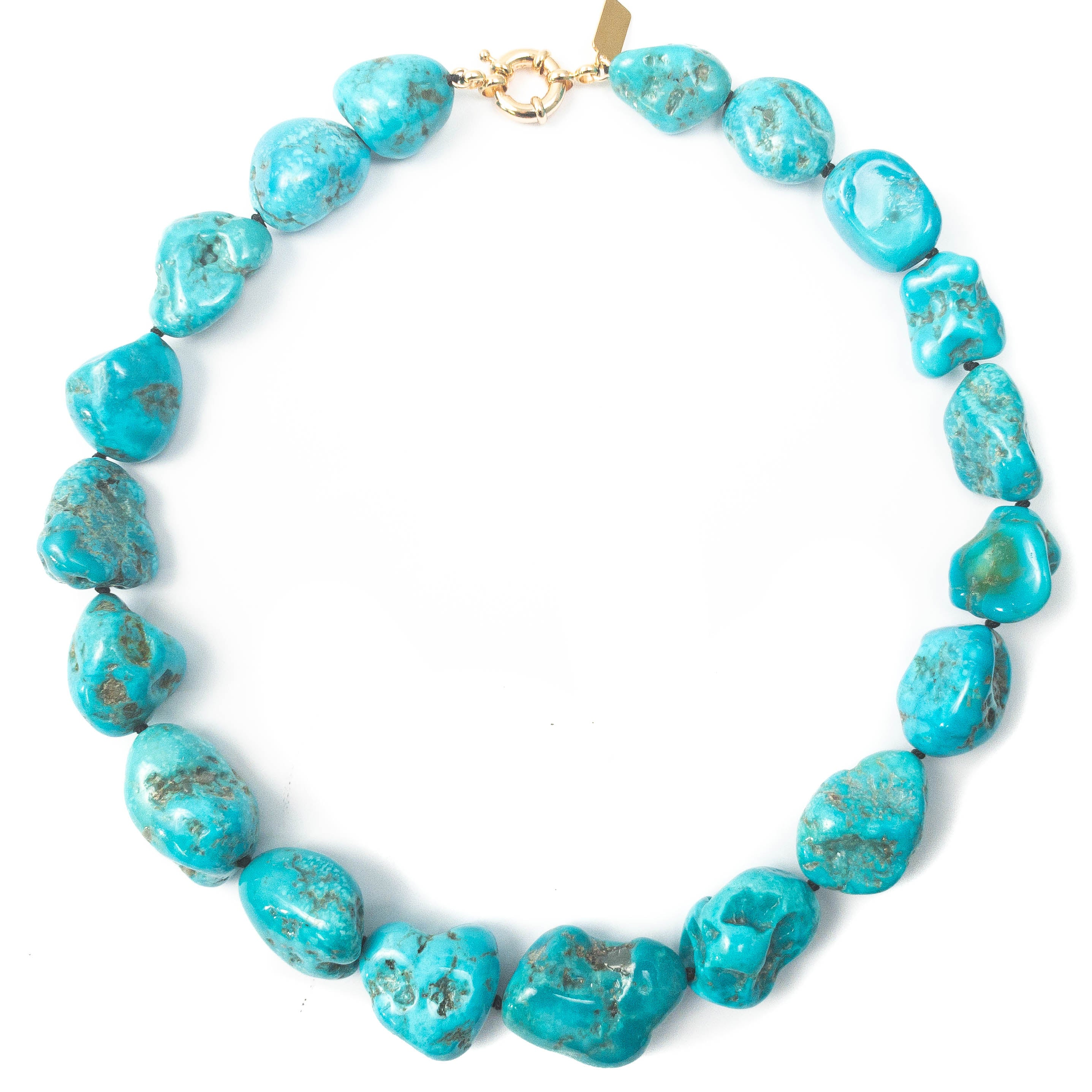 AAA Quality Undyed Sleeping Beauty Turquoise Nugget Necklace