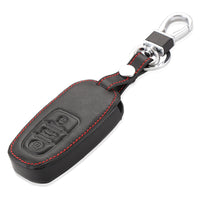 Genuine Leather Car Key Case Cover Key Fob Keyfobs for Audi A6 A8 Q7 TT