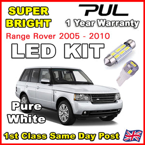 RANGE ROVER L322 2002+ INTERIOR PREMIUM LED LIGHTING UPGRADE KIT 18 BULB SET PURE WHITE