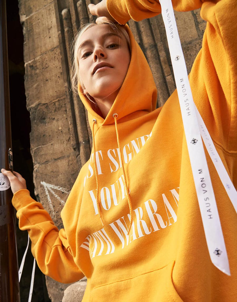 Rosemarie Hoodie in Apricot Yellow