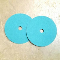 7'' resin fiber discs for grinding heels or other areas of shoes.