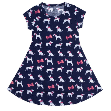 Puppies Short Sleeve Dress - YOUTH