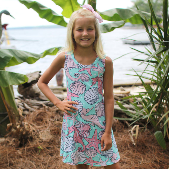 Seashells Tank Dress - YOUTH
