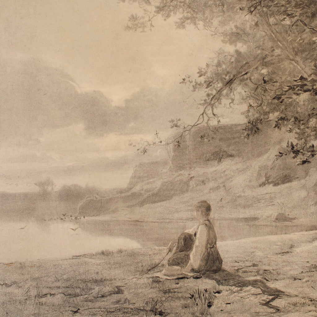 Woman on the Bank of a Pond