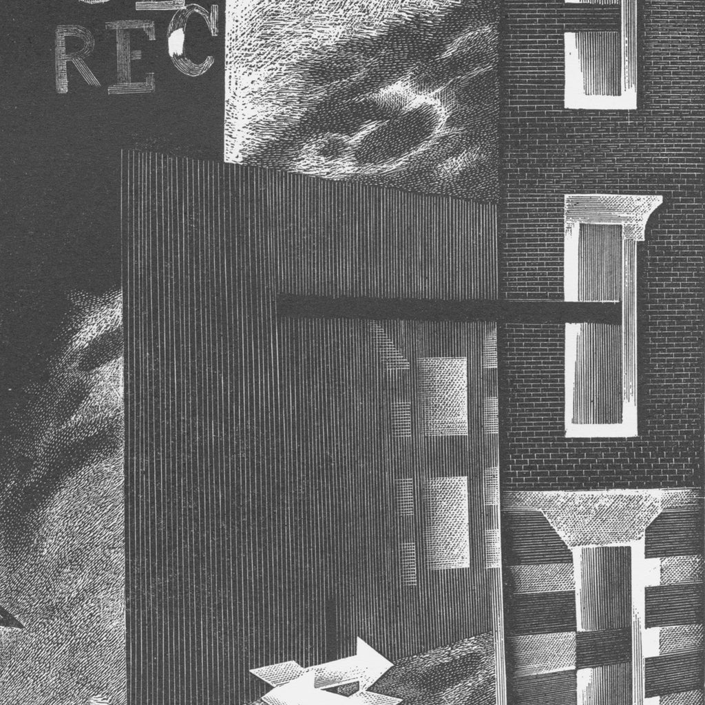 Bernard Brussel-Smith - City Scene I - wood engraving