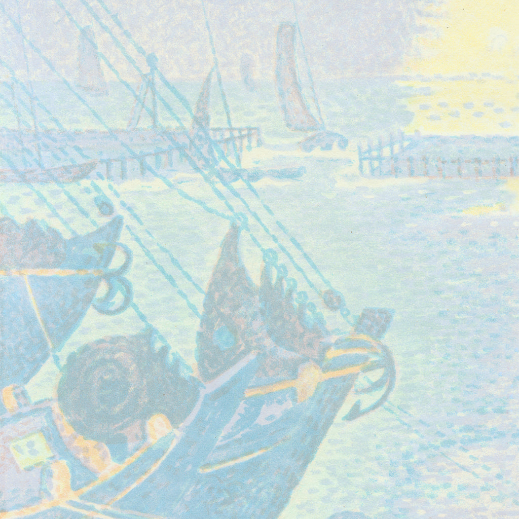 Paul Signac - Bateaux a Flessingue - seascape - lithograph