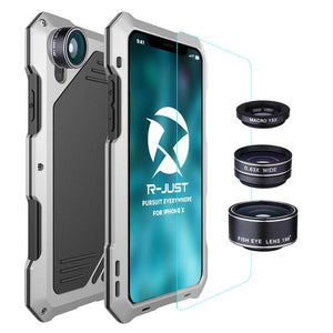 Waterproof Case for iPhone X With 3 in 1 Lens - Phonetographr