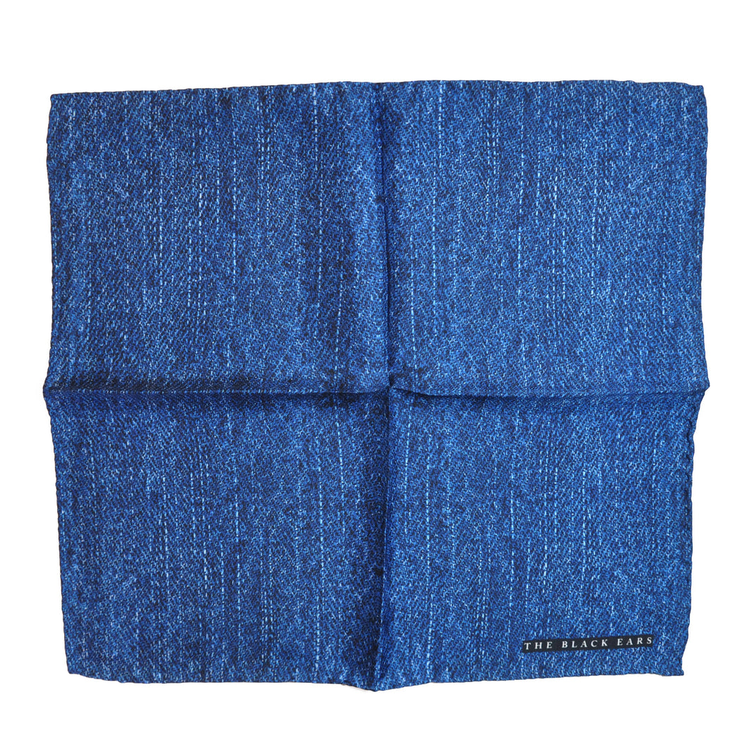 The Blue Jean Silk Pocket Square - THE BLACK EARS