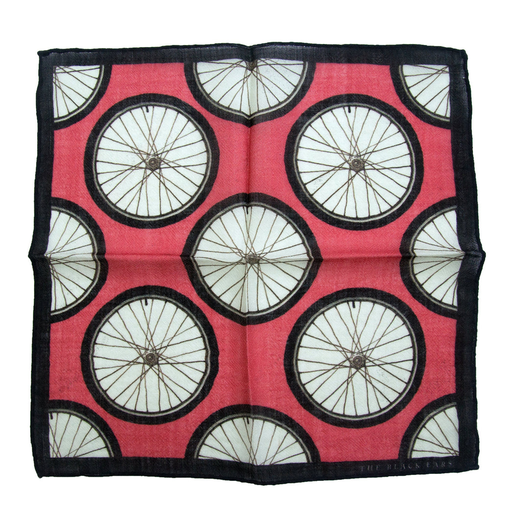 The Red Wheel Wool Pocket Square - THE BLACK EARS