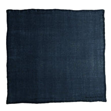 The Western Blue Wool Pocket Square - THE BLACK EARS