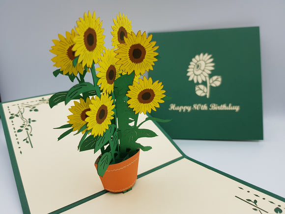 80th Birthday Sunflowers