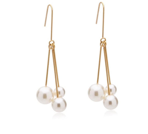 Imitation Pearls Dangle Earrings