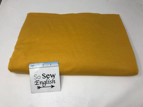 SOLID Mustard -Poly Rayon Spandex  French Terry - By the yard