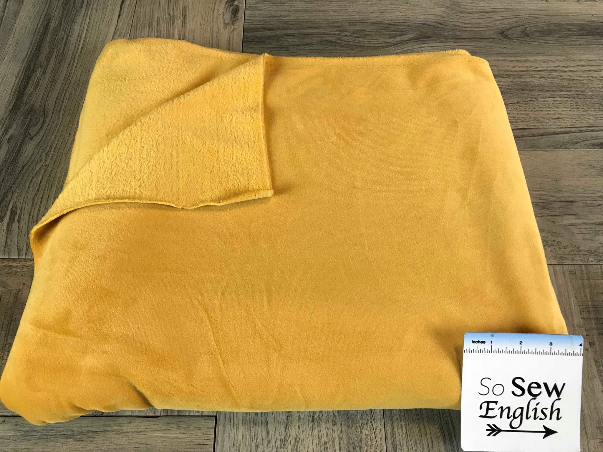 Solid Mustard - VELVET PLUSH - By the yard
