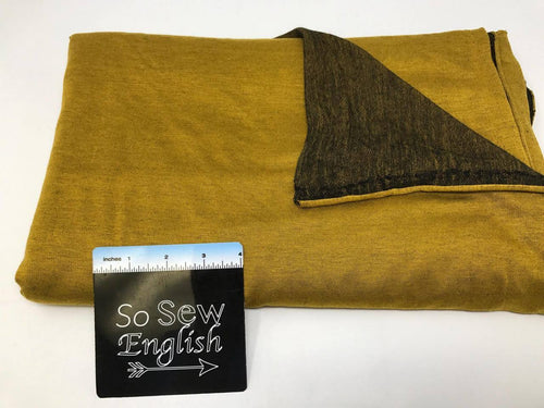 Two-Face MUSTARD  -Poly Rayon Spandex  French Terry - By the yard