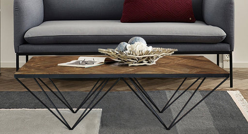 Magari Furniture GL1558 A Punta II Reclaimed Elm Wood Coffee Table-Long Mountains