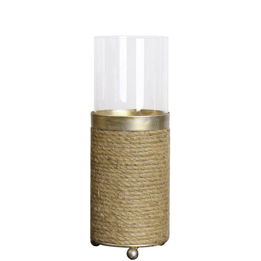 Magari Furniture Lieve Hurricane Candleholder, Medium, Rustic Gold-Long Mountains