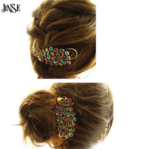 Peacock Hairpin Barrette Hair Clip