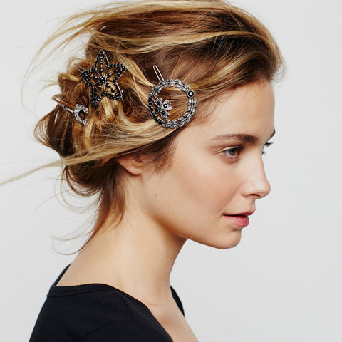 Retro Crystal Hairpin