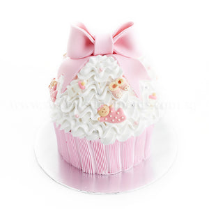 CFR20 Miss Cupcake Sweetest Moments Full Month Birthday Cake Fresh Cream Girl Pink