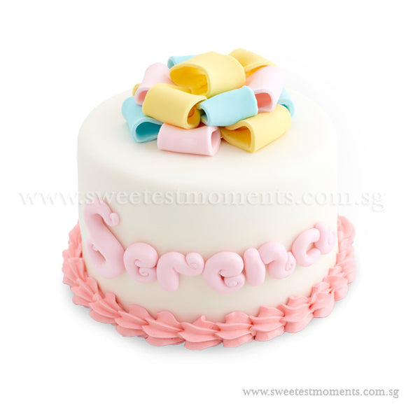 CKR15 Unwrap The Present Sweetest Moments Birthday Cake Fondant