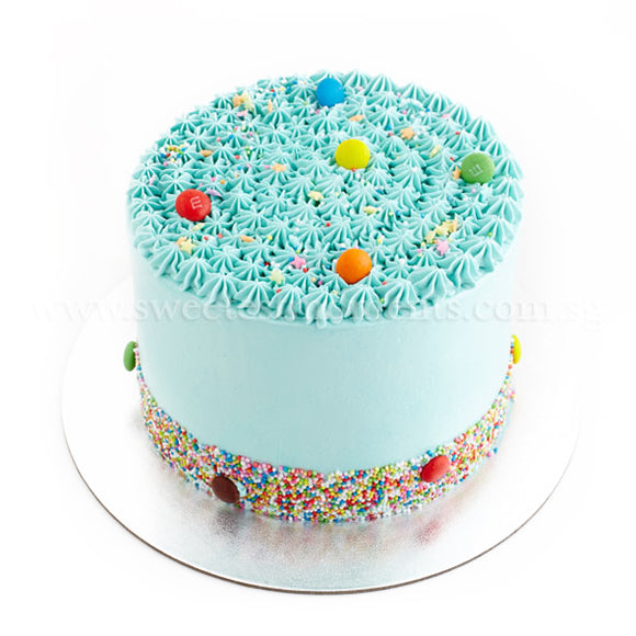 CRR07 Rainbow Dotty Sweetest Moments Birthday Cake Buttercream