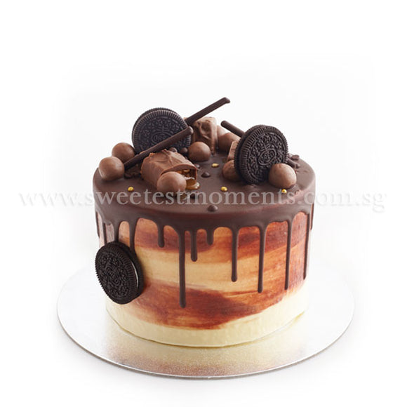 CRR08 Chocolate Paradise Sweetest Moments Birthday Cake Buttercream Chocolate 6 inch