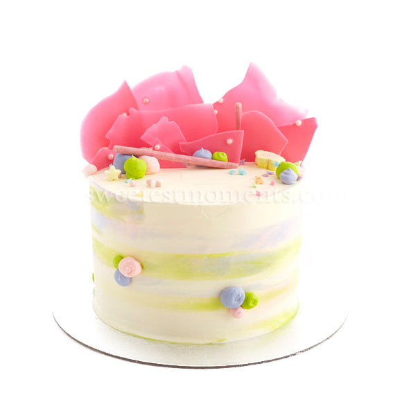 CRR09 Sweet Pastel Sweetest Moments Birthday Cake Buttercream 6 inch