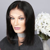 Straight Bob Wig Middle Part Short Human Hair Lace Front Wigs