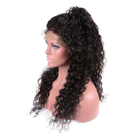 Loose Curly 13*6 Deep Parting Human Hair Lace Front Wigs
