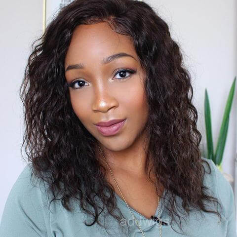 2017 Hot Sale Loose Curly Human Hair Lace Front Wigs