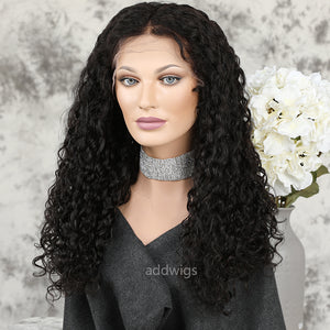New Arrival Loose Curly Lace Front Wigs Human Hair Glueless Wig With Elastic Bands