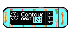 Bayer Contour Next USB Vinyl Sticker (Surfboards)
