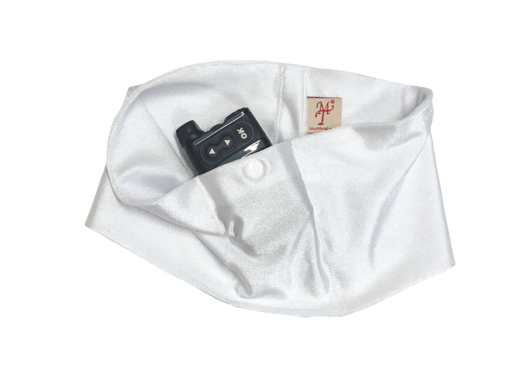 White Pump Waist Band Pouch