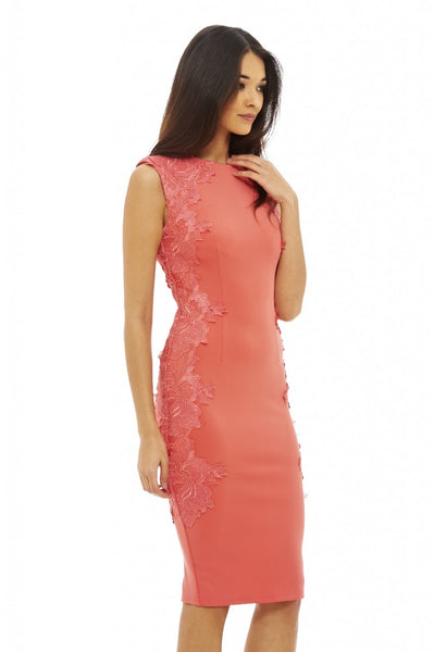 Lace Side Bodycon Dress