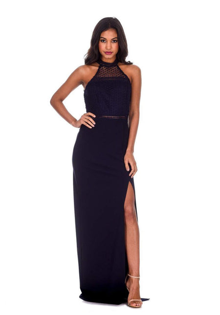 Cobalt Wrap Front Maxi Dress