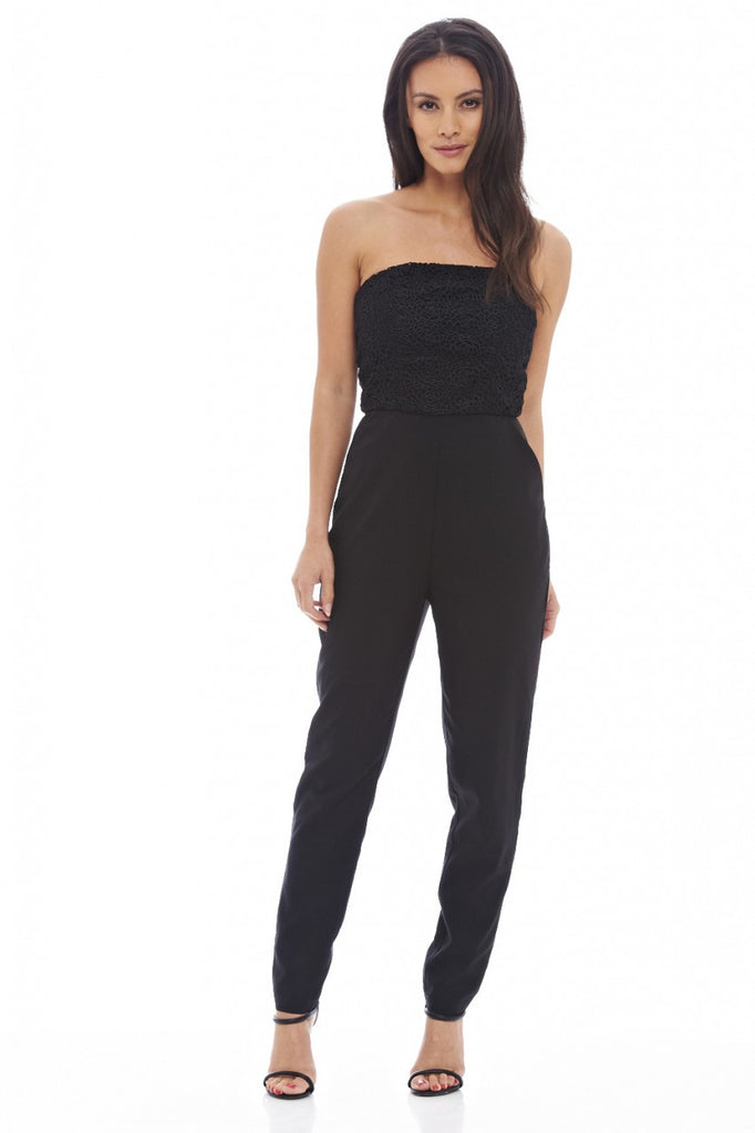 Strapless Lace Top Jumpsuit