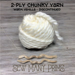 DISCONTINUED - 2 ply Chunky Twists, warm vanilla