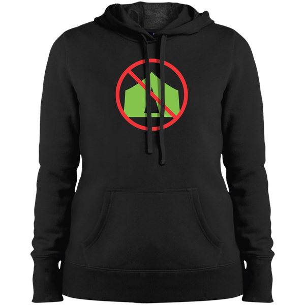 NO CAMPING -  Pullover Hooded Sweatshirt - Herban Apparel