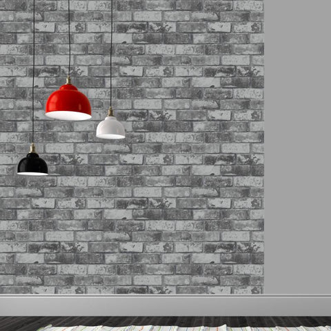 Debona Wallpapers Slate Grey Brick Wallpaper