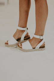 RESTOCK - Laguna Platform Sandals in Off White